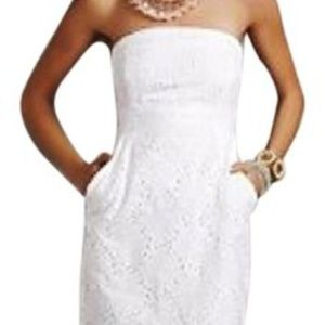 NWT Black Eyelet Strapless Dress New York & Co.